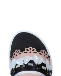 Mother Of Pearl Black Sandals