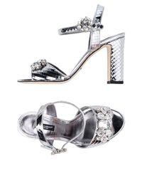 Dolce & Gabbana Metallic Sandals