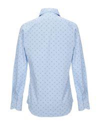 Camicia di MASSIMO LA PORTA in Blue da Uomo