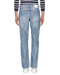 Department 5 Blue Denim Trousers for men