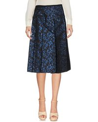 Marni Blue Knee Length Skirt