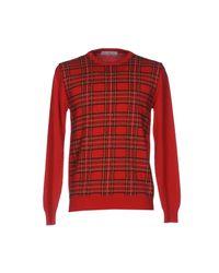 Grey Daniele Alessandrini Red Sweater for men