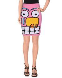 Jeremy Scott Multicolor Knee Length Skirt
