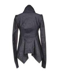 Rick Owens Purple Jacket