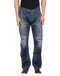 Armani Jeans - Blue Denim Pants for Men - Lyst