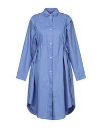 Robe courte MM6 by Maison Martin Margiela en coloris Blue