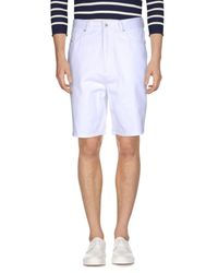 DIESEL - White Denim Bermudas for Men - Lyst