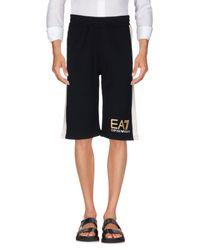 EA7 Blue Bermuda Shorts for men