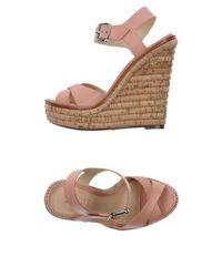 Schutz - Pink Sandals - Lyst