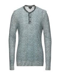 Pullover Giorgio Armani pour homme en coloris Blue