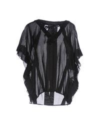 Ermanno Scervino Black Bluse
