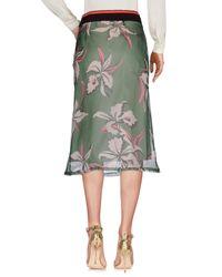 Marni Green 3/4 Length Skirt