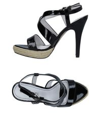 CafeNoir Black Sandals