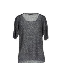 Bruno Manetti Gray Sweater