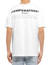 T-shirt di Off-White c/o Virgil Abloh in White da Uomo