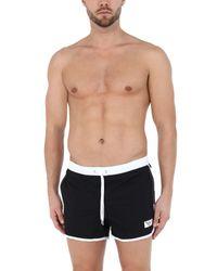 Short de bain Emporio Armani pour homme en coloris Black