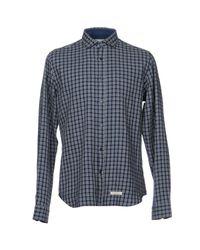 Camicia di Tintoria Mattei 954 in Blue da Uomo