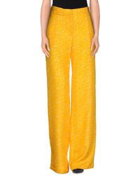 Normaluisa - Yellow Casual Pants - Lyst