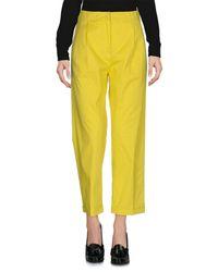 ODEEH Yellow Casual Trouser