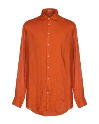 Camicia di Massimo Alba in Orange da Uomo