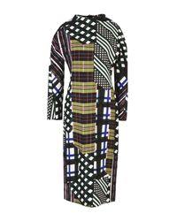 Marni | Green Double Cotton And Silk Skyline Dress | Lyst