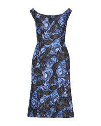 Vestido por la rodilla Prada de color Blue