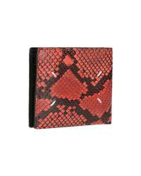 Maison Margiela Red Python Effect Wallet for men
