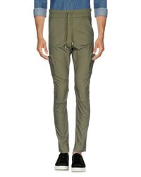 John Elliott Green Casual Pants for men