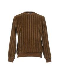 MSGM - Brown Sweatshirt for Men - Lyst