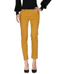 TRUE NYC Yellow Casual Trouser