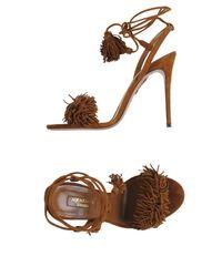 Aquazzura Brown Sandals