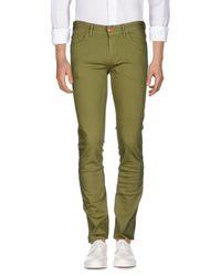 Pt05 Green Denim Trousers for men