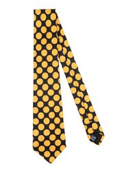 Mp Massimo Piombo - Yellow Tie for Men - Lyst