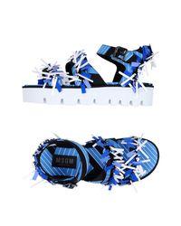MSGM Blue Sandals