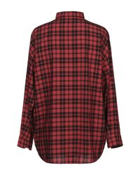 Chemise Balenciaga pour homme en coloris Red