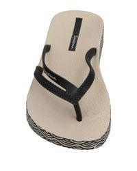 Ipanema Black Toe Strap Sandals