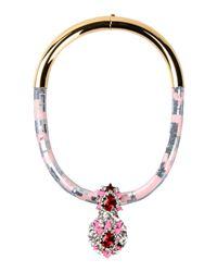 Shourouk Pink Necklace