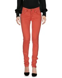 Met Red Casual Trouser