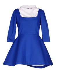 Natasha Zinko Blue Short Dress