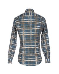 Ferragamo Blue Shirt for men