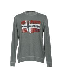 Napapijri - Gray T-shirt for Men - Lyst