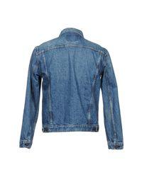 Orslow Blue Denim Outerwear for men