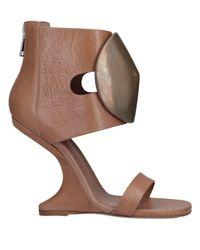 Rick Owens Brown Sandals