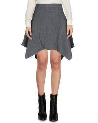 Minifalda Stella McCartney de color Gray