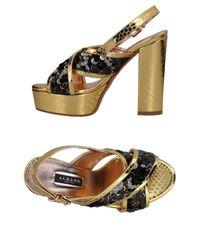 Sandales Albano en coloris Metallic