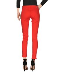 Love Moschino - Red Denim Trousers - Lyst