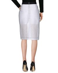 Tara Jarmon White 3/4 Length Skirt