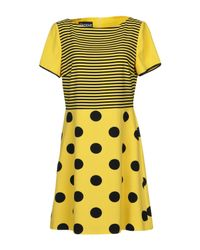 Boutique Moschino Yellow Short Dress