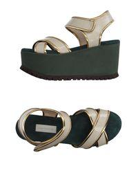 L'Autre Chose Gray Sandals