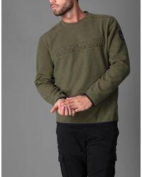 Sweat-shirt Napapijri pour homme en coloris Green